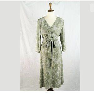 Adrianna Papell Printed Stretch Wrap Dress 16